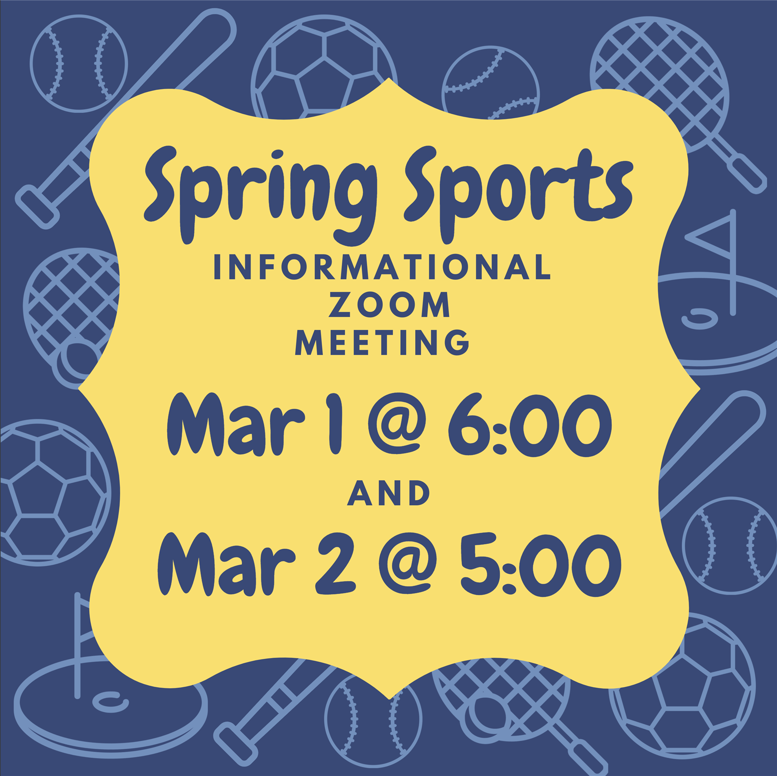 Spring Sports Informational Meeting