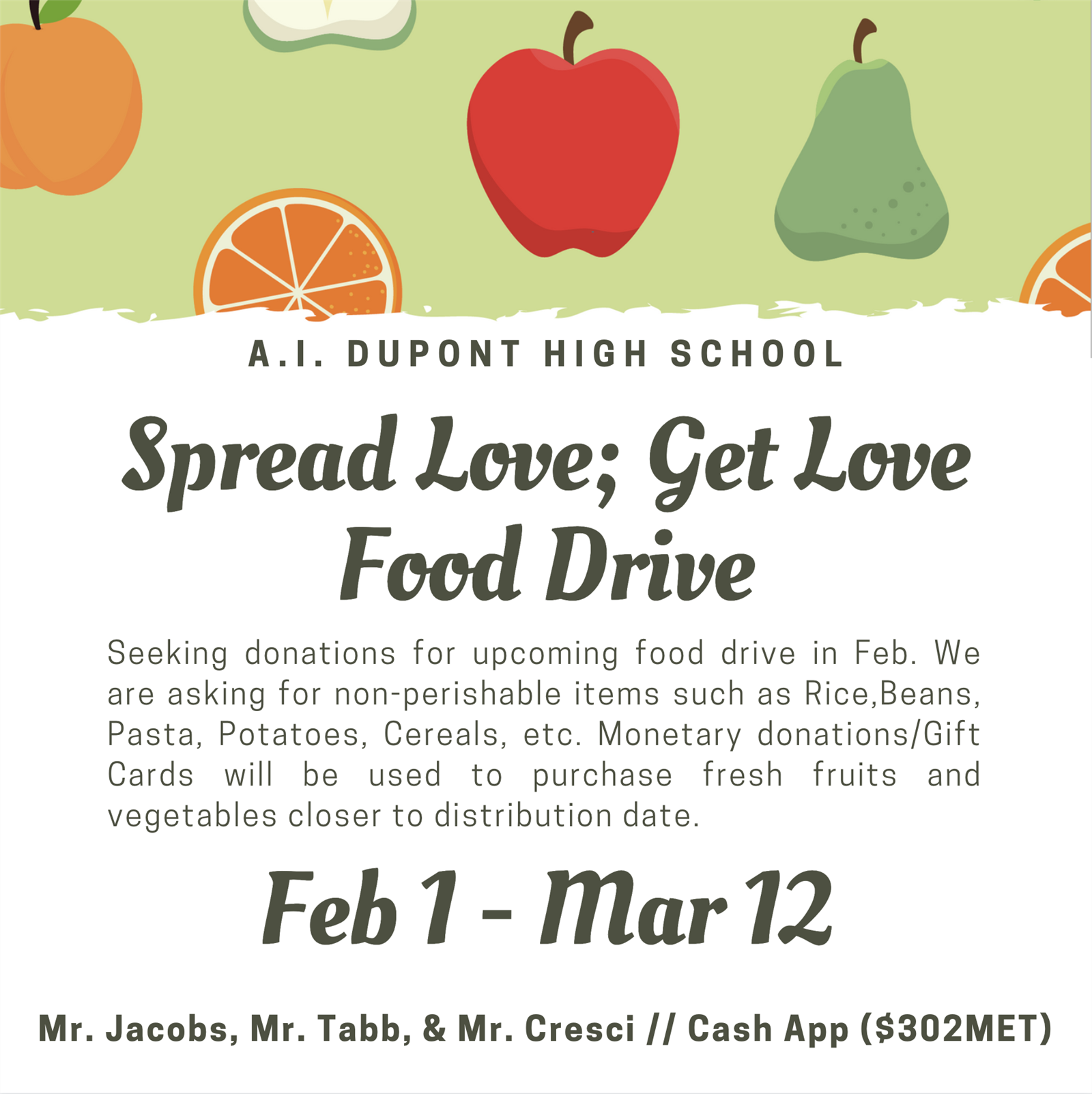 Spread Love; Get Love Food Drive