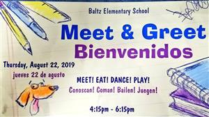 Meet and Greet, August 22, 2019 4:15-6:15pm