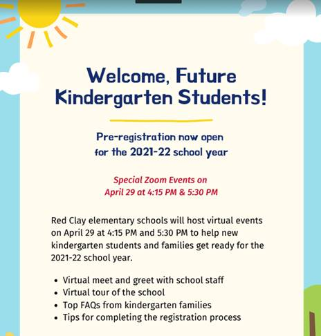 Virtual Kindergarten Event