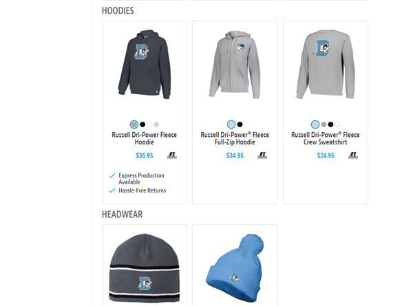New team store options available now!