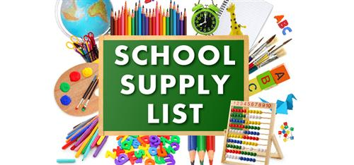 Supply List for 2019-2020 School Year