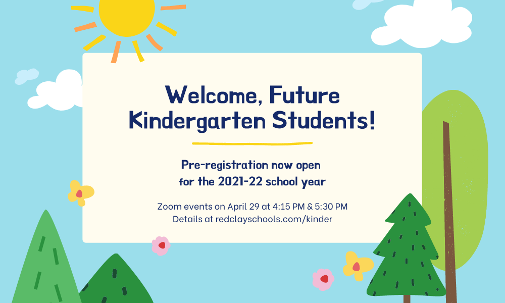 Welcome, Future Red Clay Kindergarten Students & Families!
