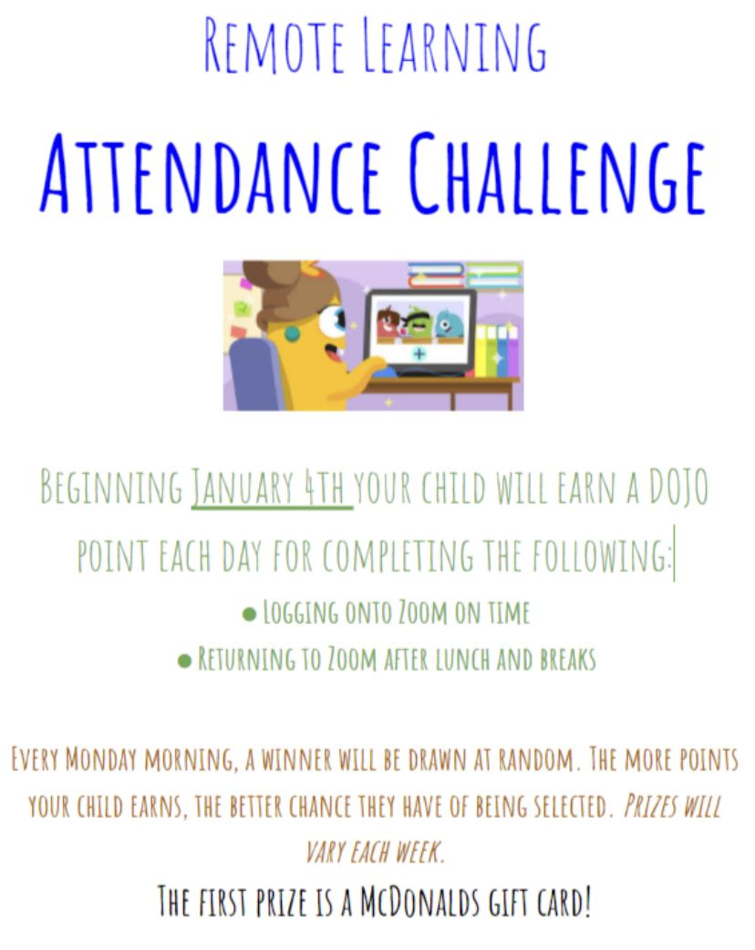 Attendance Challenge — HAPPY NEW YEAR