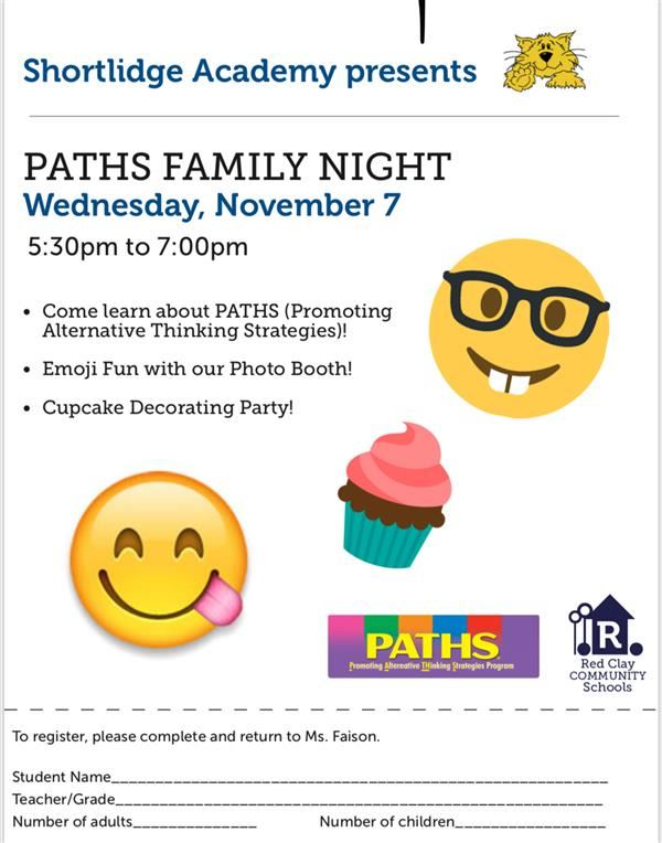 PATHS NIGHT - Join us on 11/7!
