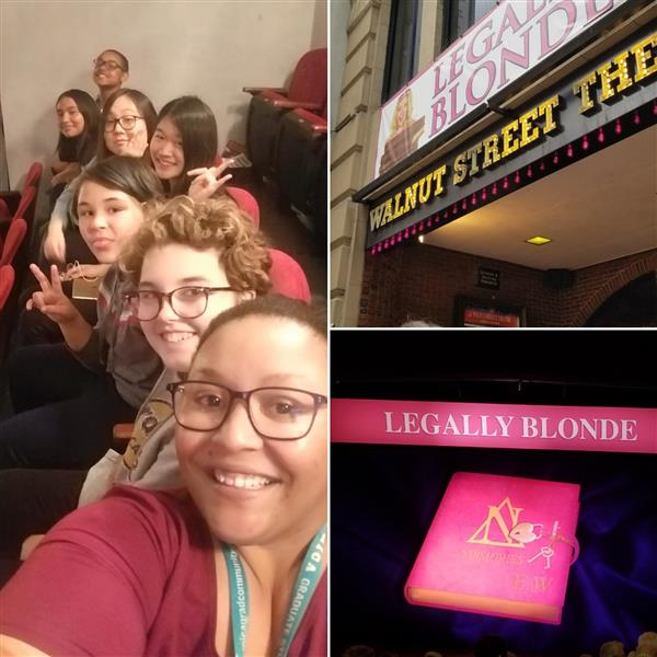 Chorus and Drama club attend Legally Blonde at the Walnut St Theater