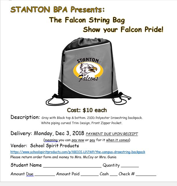 BPA selling Falcon String Bag