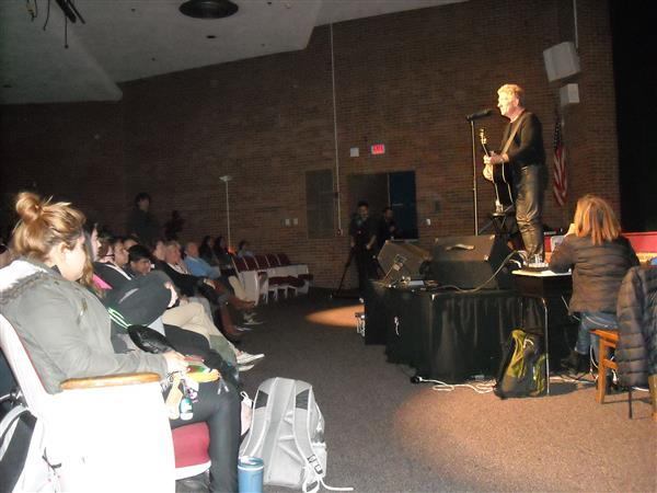 French Singer/Songwriter Performs at McKean