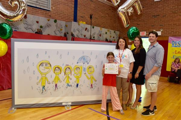Heritage Student is the Delaware Winner of Google's Doodle for Google Contest.